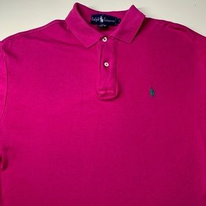 Pink 100% Cotton Long Sleeve Polo by Ralph Lauren